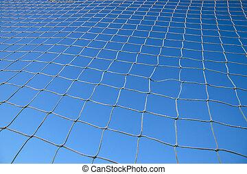 Net on blue sky