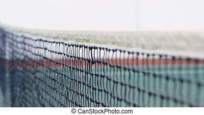 Net on tennis court 4k - Close-up of net on tennis court 4k