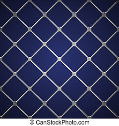 Net seamless on blue background