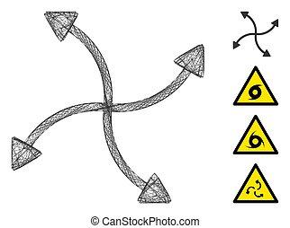 Net Swirl Arrows Vector Mesh