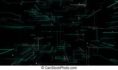 Net Tunnel Loop Animation Background