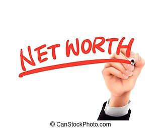 net worth written by 3d hand - net worth words written by...
