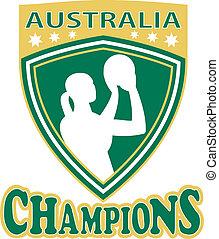netball player Australia Champions