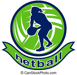 netball player jumping ball
