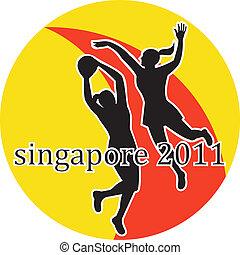 netball players Singapore 2011