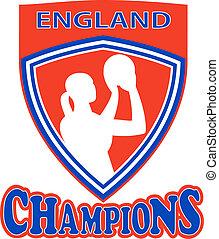 netball shooter champions England shield