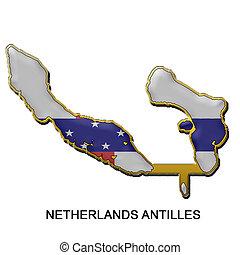 Netherland Antilles metal pin badge