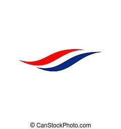 Netherland flag icon logo design vector template