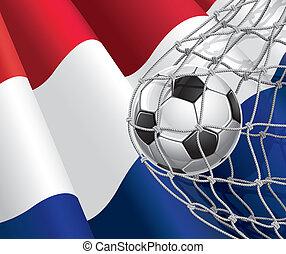 netherlandish, voetbal, vlag, bal
