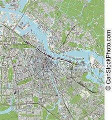 netherlands, アムステルダム, 都市 地図