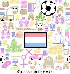 netherlands, パターン, seamless, 背景, icon.