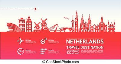 netherlands, 旅行, ベクトル