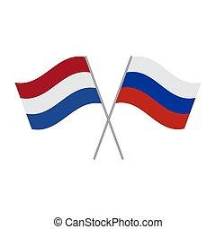 netherlands, 旗, 隔離された, ロシア, ベクトル