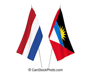 Netherlands and Antigua and Barbuda flags - National fabric ...