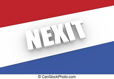 Netherlands and European Union relationships. Nexit metaphor