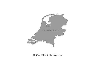Stylish and modern Netherlands map in flat infographic style, it is perfect for decorating presentations or your video.