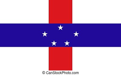 Netherlands Antilles Flag - Vector Illustration