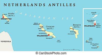 Greater Antilles Political Map Caribbean Islands Cuba Jamaica
