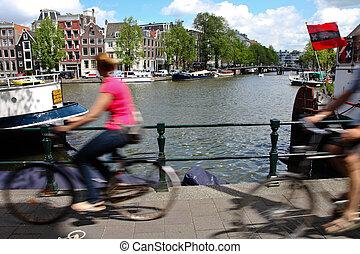 netherlands, der, niederlande, hauptstadt, von, amsterdam