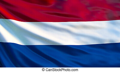 Netherlands flag. 3d illustration