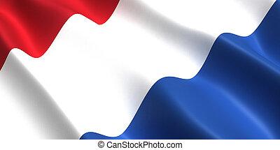 Netherlands flag 3D
