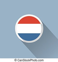 Netherlands Flag Button Icon