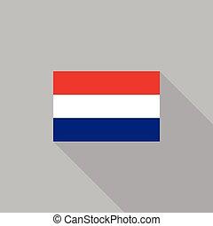 Netherlands flag flat design vector illustration