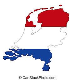 Netherlands flag icon map