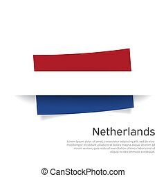 Netherlands flag in paper cut style. Creative background for patriotic holiday card design. National Poster. Cover, banner in state colors of the Netherlands. Vector tricolor design