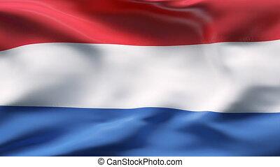 Netherlands flag in slow motion