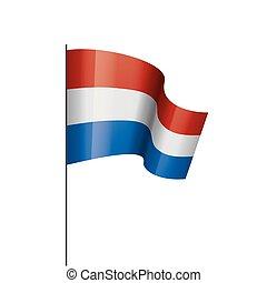 Netherlands flag, vector illustration