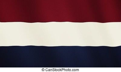 Netherlands flag waving animation. Full Screen. Symbol of the country.