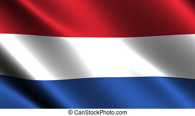 Netherlands flag waving in the wind