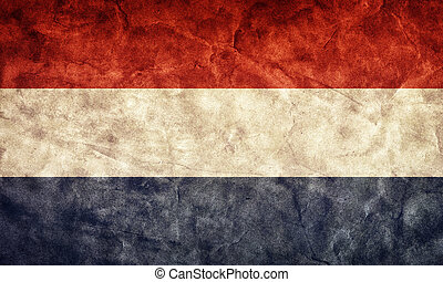 Netherlands grunge flag. Item from my vintage, retro flags collection