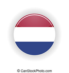 Netherlands icon circle - icon circle isolated on white...
