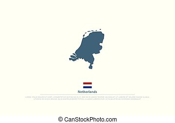netherlands - Kingdom of the Netherlands isolated map and...