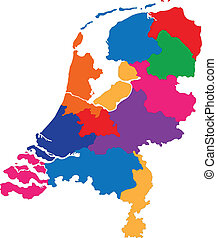 Netherlands map - Administrative division of the Kingdom of ...