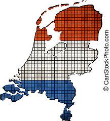 Netherlands map grunge mosaic - Vector Maps of Netherlands...