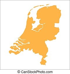 Netherlands map vector illustration