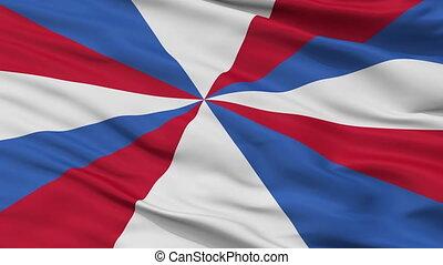 Netherlands Naval Jack Flag Closeup Seamless Loop - Naval...