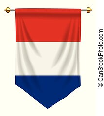 Netherlands Pennant - Netherlands flag or pennant isolated...