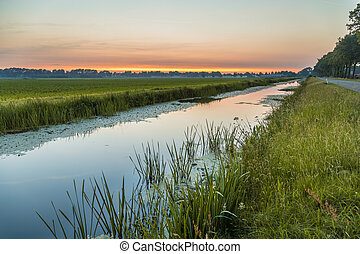 Netherlands polder landscape