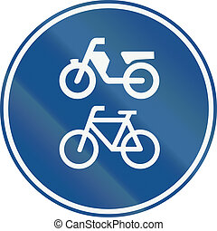 Netherlands road sign G12a - Route for pedal cycles and mopeds only