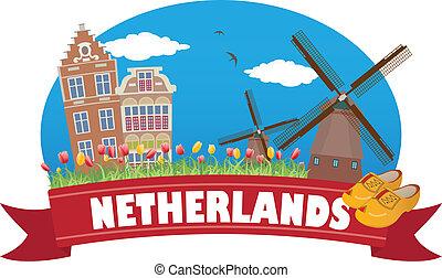 netherlands., turismo, y, viaje