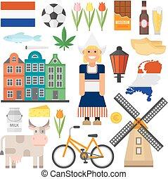 Netherlands vector set.