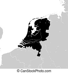 Netherlands with neighboring European countries