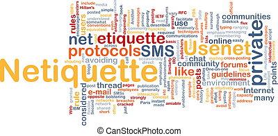 Netiquette background concept