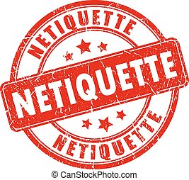 Netiquette rubber stamp