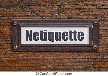 netiqutte (internet etiquette) label - netiqutte (internet...