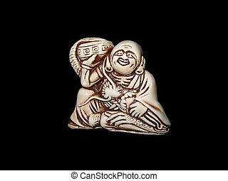 Netsuke. Mascot. Antiquarian figure. Amulet.
